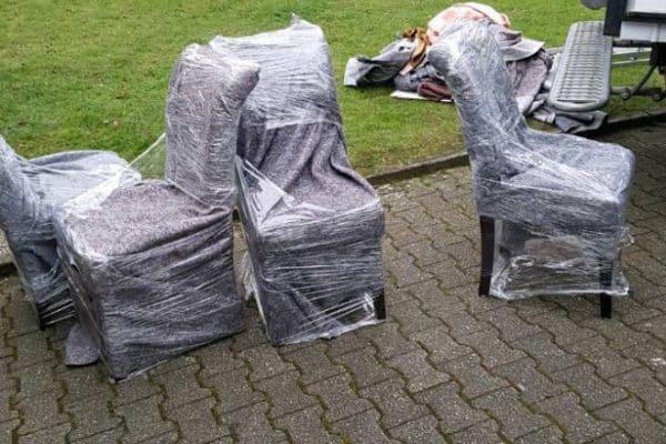 umzug verpackung, luftpolsterfolie